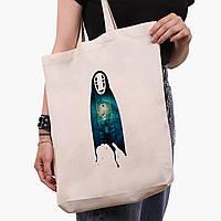 Еко сумка шоппер біла Безликий Бог Каонасі Віднесені примарами (Spirited Away) (9227-2831-1) 41*39*8 см, фото 1
