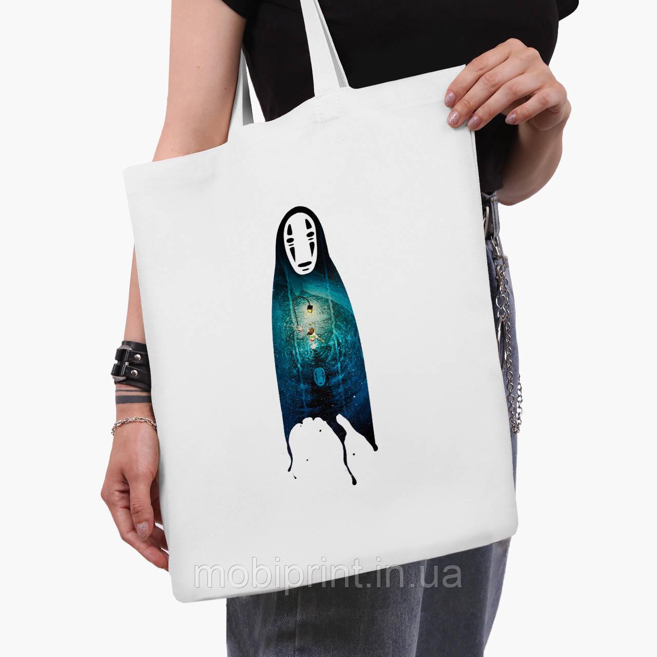 Эко сумка шоппер белая Безликий Бог Каонаси Унесённые призраками (Spirited Away) (9227-2831-3)  41*35 см