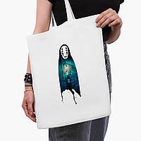 Эко сумка шоппер белая Безликий Бог Каонаси Унесённые призраками (Spirited Away) (9227-2831-3)  41*35 см , фото 1