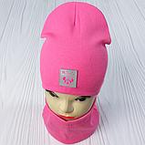 """М 93566. Комплект для девочек  шапка двойная """"MINNIE"""" и хомут Vivatricko, 2-10 лет, разные цвета, фото 7"""