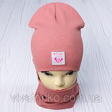 """М 93566. Комплект для дівчаток шапка подвійна """"MINNIE"""" і хомут Vivatricko, 2-10 років, різні кольори"""