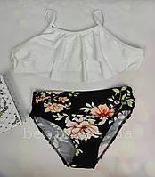 Роздільний купальник для дівчинки з квітковим принтом р 120-160