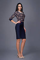 """Женское платье """"Жасмин"""" с цветным принтом на верхней части изделия"""