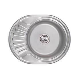 Кухонна мийка Lidz 6044 Satin 0,8 мм (LIDZ6044SAT)