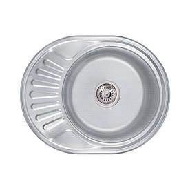 Кухонна мийка Lidz 6044 Decor 0,8 мм (LIDZ6044DEC)