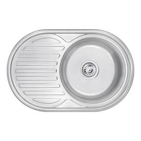 Кухонна мийка Lidz 7750 Satin 0,6 мм (LIDZ775006SAT)