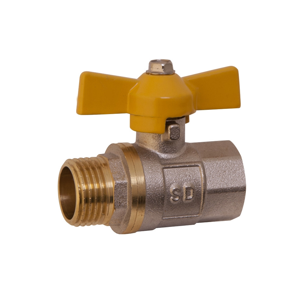 """Кран шаровой SD Plus 1/2"""" ВН для газа (бабочка) SD607G15"""