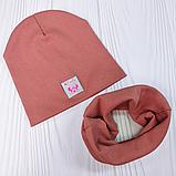 """М 93566. Комплект для дівчаток шапка подвійна """"MINNIE"""" і хомут Vivatricko, 2-10 років, різні кольори, фото 2"""