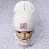 """М 93566. Комплект для дівчаток шапка подвійна """"MINNIE"""" і хомут Vivatricko, 2-10 років, різні кольори, фото 4"""