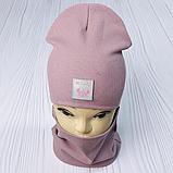 """М 93566. Комплект для дівчаток шапка подвійна """"MINNIE"""" і хомут Vivatricko, 2-10 років, різні кольори, фото 6"""