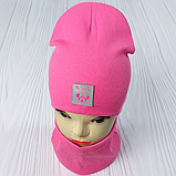 """М 93566. Комплект для дівчаток шапка подвійна """"MINNIE"""" і хомут Vivatricko, 2-10 років, різні кольори, фото 7"""
