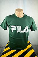 Футболка брендовая мужская зеленая Fila