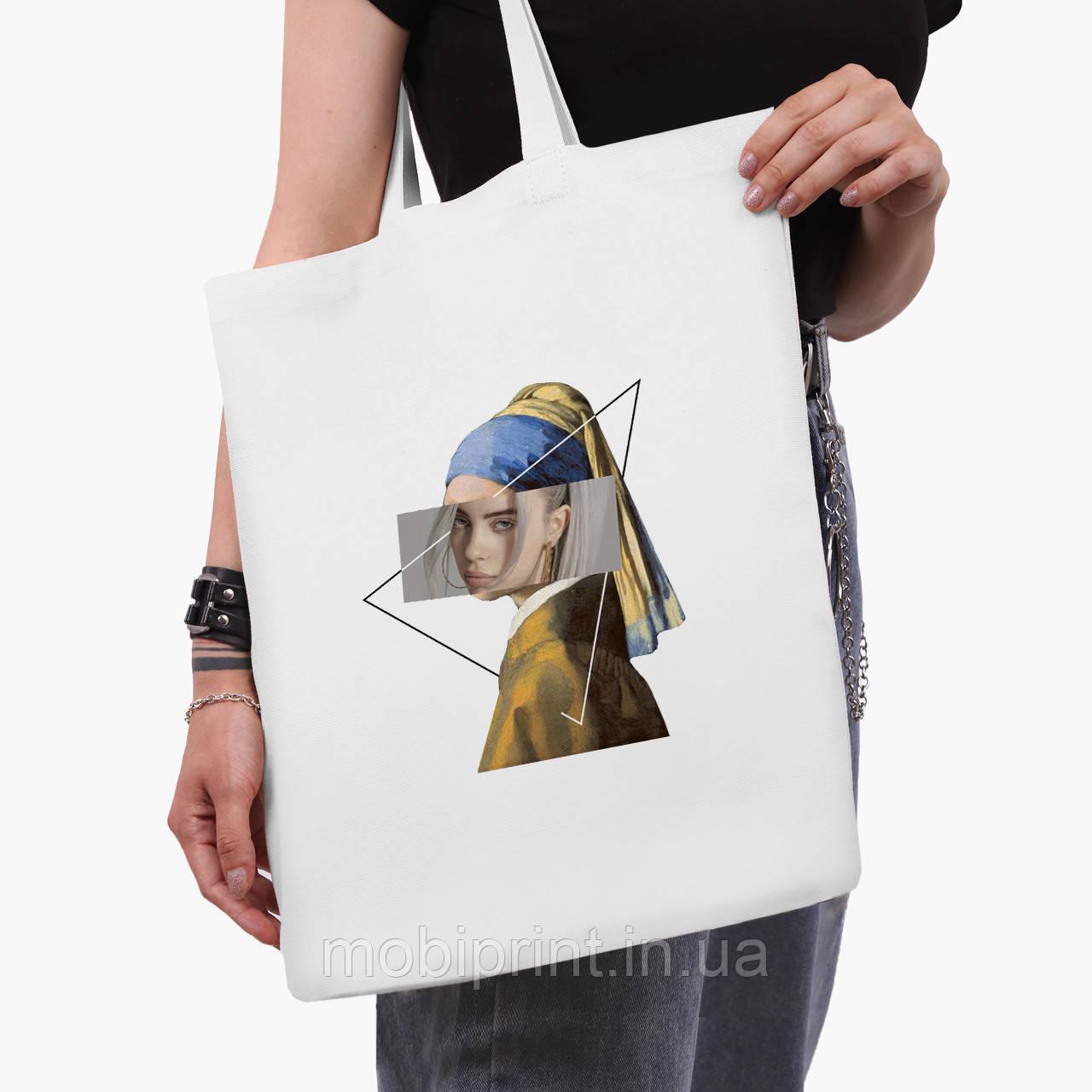 Еко сумка шоппер біла Біллі Айлиш - Ренесанс (Billie Eilish - Renaissance) (9227-1206-3) 41*35 см