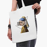 Еко сумка шоппер біла Біллі Айлиш - Ренесанс (Billie Eilish - Renaissance) (9227-1206-3) 41*35 см, фото 1