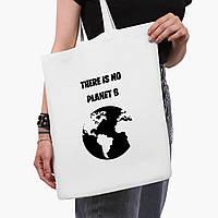 Эко сумка шоппер белая Экология (Ecology) (9227-1333-3)  41*35 см , фото 1