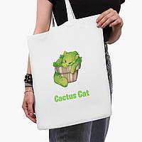 Еко сумка шоппер біла Екологія (Ecology) (9227-1335-3) 41*35 см, фото 1
