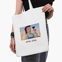 """Эко сумка шоппер белая Золушка """"Дисней"""" (Disney Cinderella) (9227-1429-3)  41*35 см , фото 1"""