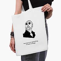 Эко сумка шоппер белая Леон киллер (Leon) (9227-1451-3)  41*35 см , фото 1