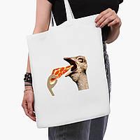 Еко сумка шоппер біла Птаха SWAG (9227-1541-3) 41*35 см, фото 1