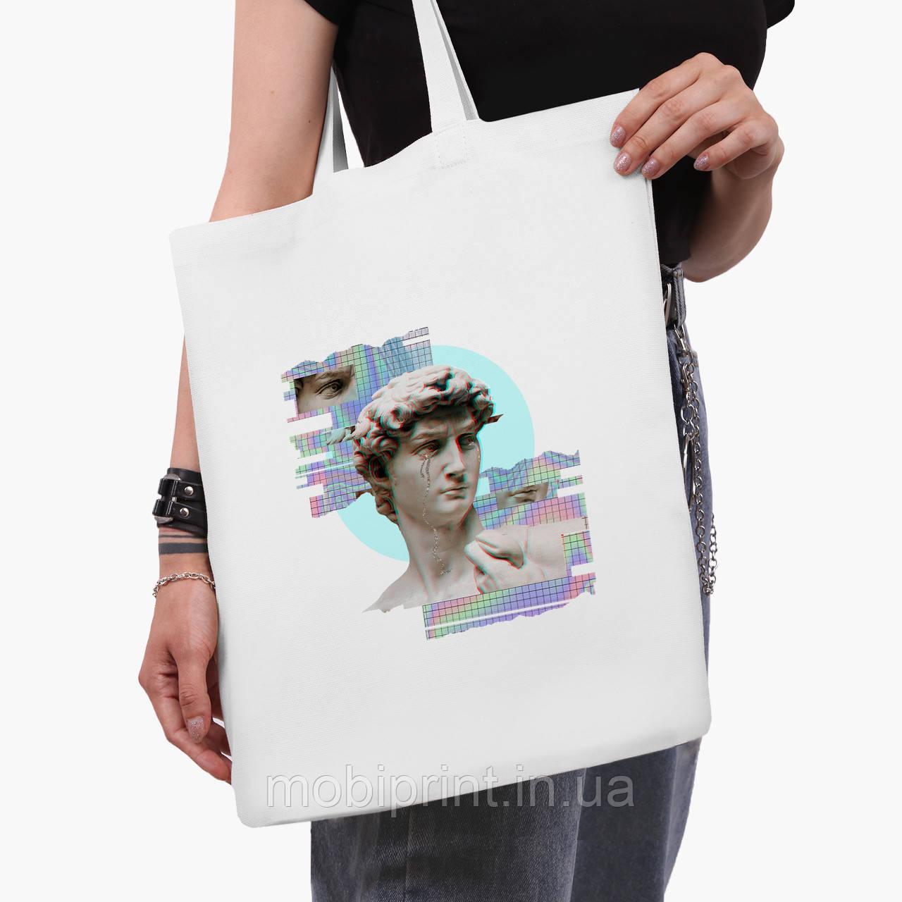 Эко сумка шоппер белая Ренессанс-Давил (David Renaissance) (9227-1584-3)  41*35 см