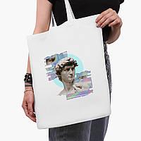 Эко сумка шоппер белая Ренессанс-Давил (David Renaissance) (9227-1584-3)  41*35 см , фото 1