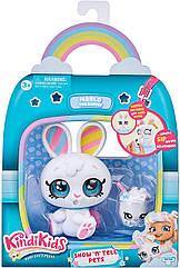 Kindi Kids Кінді кидс Зайчик Марло вихованець ляльки Марші Kindi Kids Show N Tell Pets Marlo The Bunny