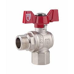 """Кран шаровой SD Forte 1/2"""" ВН для воды угловой (бабочка) SF267W15"""