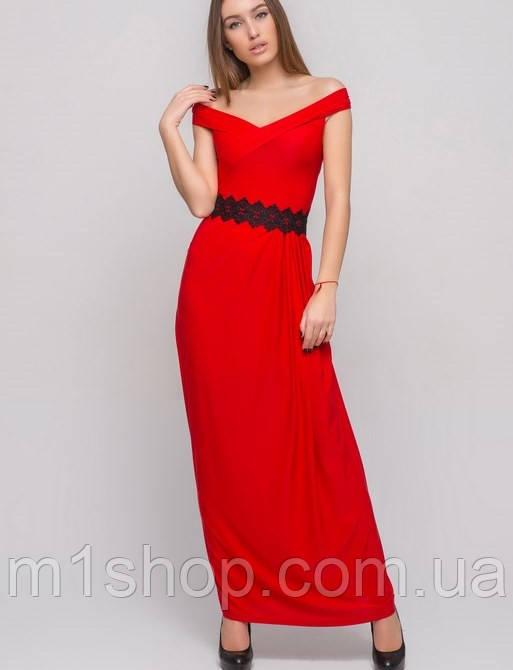 Длинное платье со спущенным плечом (2142 sk)