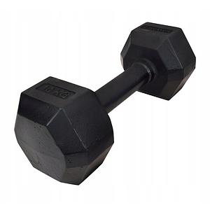 Гантель чавунна шестигранна гексагональная KAWMET 10 кг