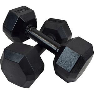 Гантель чугунная шестигранная гексагональная KAWMET 2 по 12,5 кг