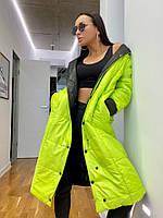 Женская стильная двухсторонняя куртка - пальто Норма, фото 1