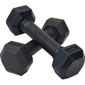 Гантель чугунная шестигранная гексагональная KAWMET 2 по 5 кг