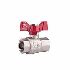 "Кран шаровой SD Forte 1"" ВР для воды (бабочка) SF602W25"