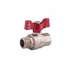 """Кран шаровой SD Forte 1"""" ВН для воды (бабочка) SF607W25"""