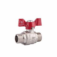 """Кран шаровой SD Forte 1/2"""" НР для воды (бабочка) SF606W15"""