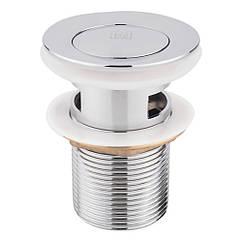 Донный клапан для раковины Lidz (CRM) 47 00 004 00 с переливом
