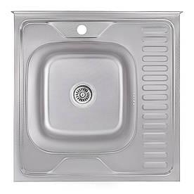 Кухонна мийка Lidz 6060-L Decor 0,6 мм (LIDZ6060LDEC06)