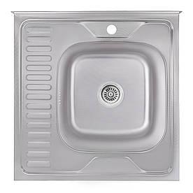 Кухонна мийка Lidz 6060-R Decor 0,6 мм (LIDZ6060RDEC06)