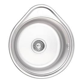 Кухонна мийка Lidz 4843 Micro Decor 0,6 мм (LIDZ4843MDEC06)