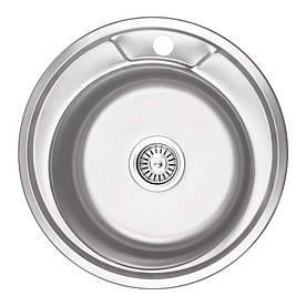 Кухонна мийка Lidz 490-A Micro Decor 0,6 мм (LIDZ490AMDEC06)