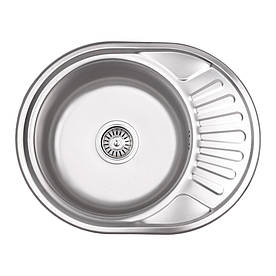 Кухонна мийка Lidz 5745 Micro Decor 0,6 мм (LIDZ5745MDEC06)