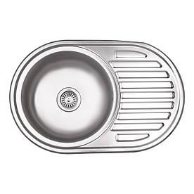 Кухонна мийка Lidz 7750 Micro Decor 0,6 мм (LIDZ7750DEC06)