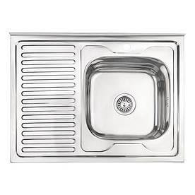 Кухонна мийка Lidz 6080-R Polish 0,6 мм (LIDZ6080RPOL06)