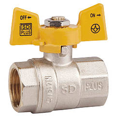 """Кран шаровой SD Plus 1"""" ВР для газа (бабочка) SD602NG25PN40"""