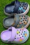Детские шлепанцы кроксы сабо crocs для мальчика серые р18-23, фото 2