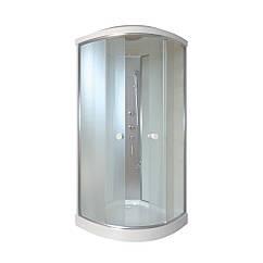 Душевой бокс Qtap SB9090.1 SAT, стекло Fabric 4 мм