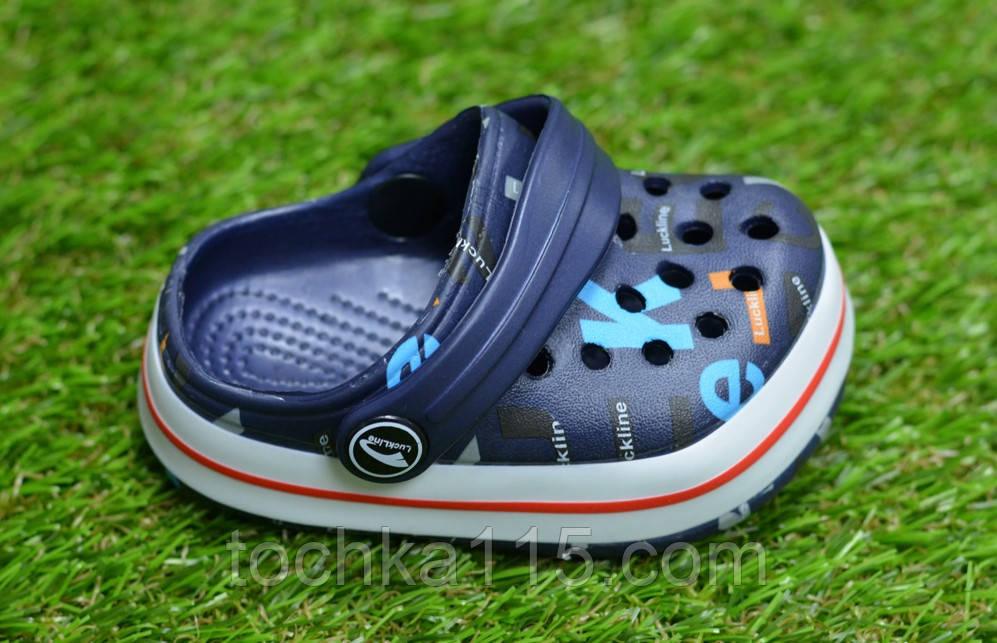 Детские шлепанцы кроксы сабо crocs для мальчика серые р18-23