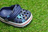 Детские шлепанцы кроксы сабо crocs для мальчика серые р18-23, фото 5