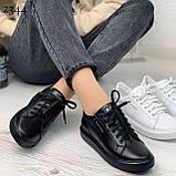 Жіночі кеди з натуральної шкіри Calvin Klein чорні, фото 3