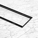 Трап лінійний Qtap Dry Tile304-600MBLA з нержавіючої сіткою 600х70, фото 9